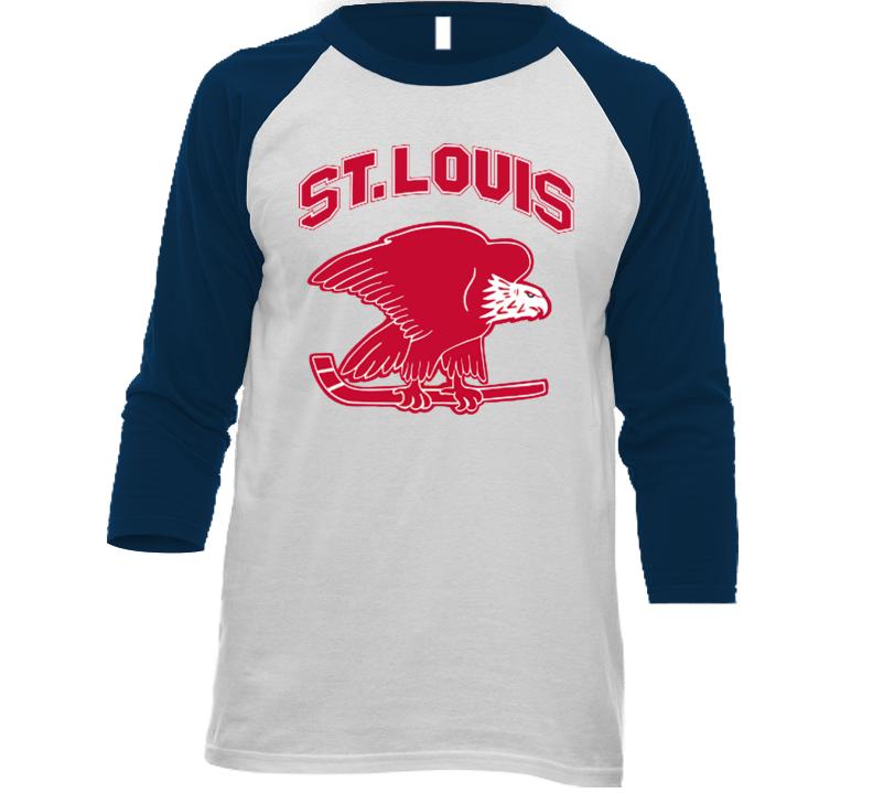 St. Louis Eagles Defunct Nhl Hockey Team Retro Vintage Navy ... 14c0bdf32f5e