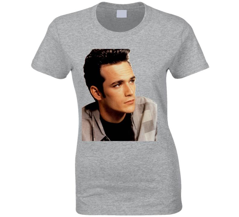 12f982684 Luke Perry Dillon Beverly Hlls Tv Show Ladies Womens T Shirt